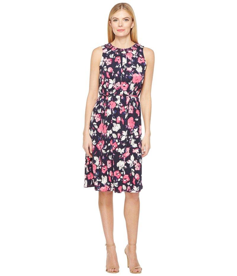 エレントレイシー レディース ワンピース トップス Smocked Self-Tie Dress Artisan Floral Tulip