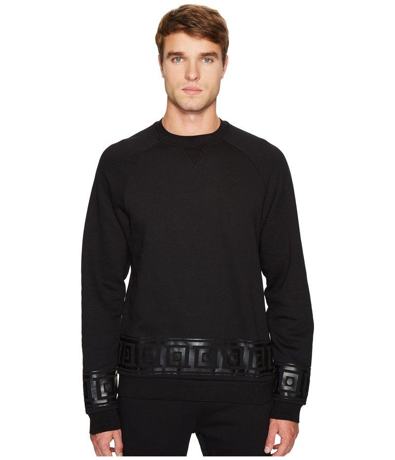 ヴェルサーチ メンズ パーカー・スウェット アウター Key Border Sweatshirt Black