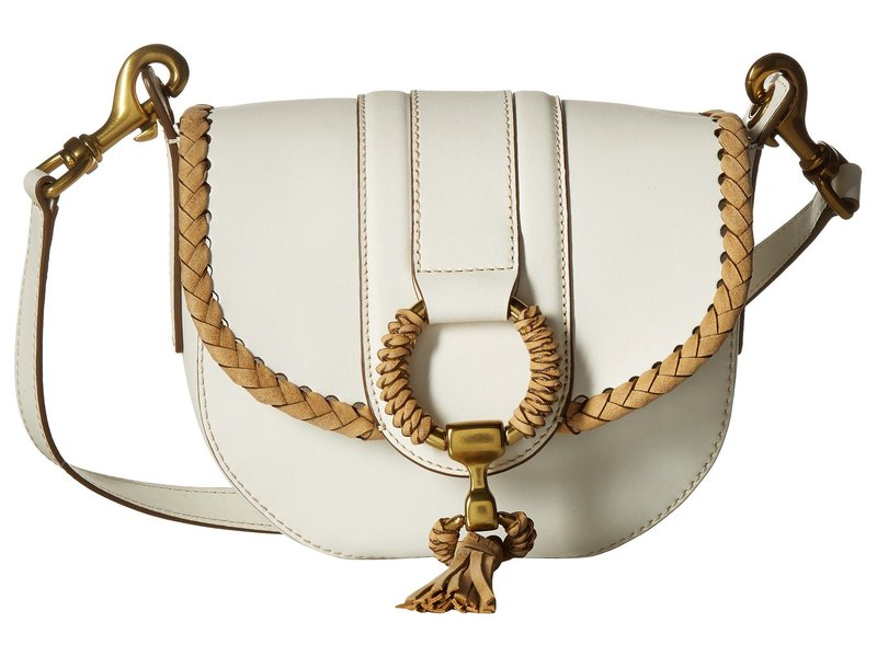フライ レディース ハンドバッグ バッグ Ilana Wrapped Small Saddle White Matte Leather