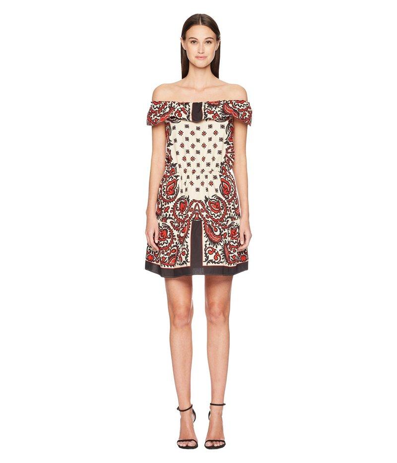 レッドヴァレンティノ レディース ワンピース トップス Cotton Poplin Medium Bandana Print Dress Cherry