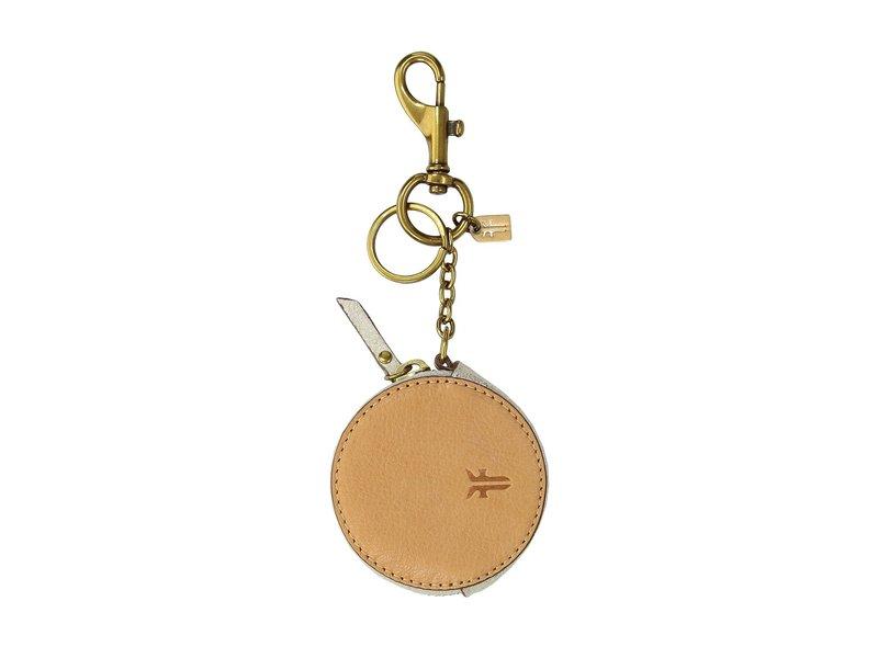 フライ レディース ハンドバッグ バッグ Zip Keychain Charm Silver Metallic