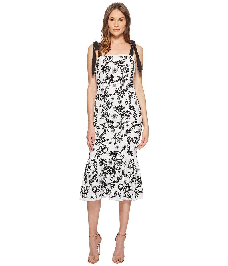 レイチェル ゾー レディース ワンピース トップス Lily Embroidered Midi Dress Ecru/Black