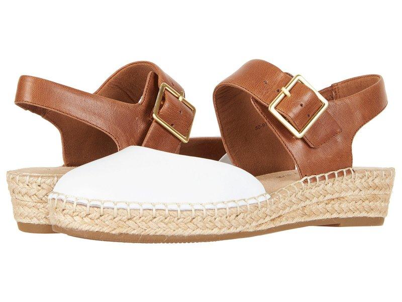 ベラビタ レディース サンダル シューズ Caralynn White/Tan Leather