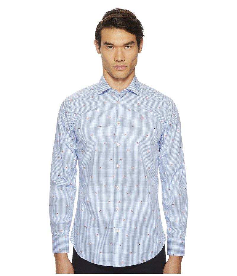 エトロ メンズ シャツ トップス Gingham Button Down Shirt Blue