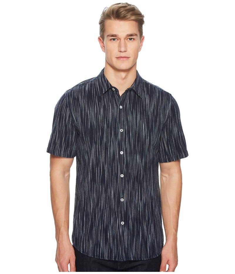 ボールドウィンデニム メンズ シャツ トップス Buena Stripe Short Sleeve Shirt Indigo/White
