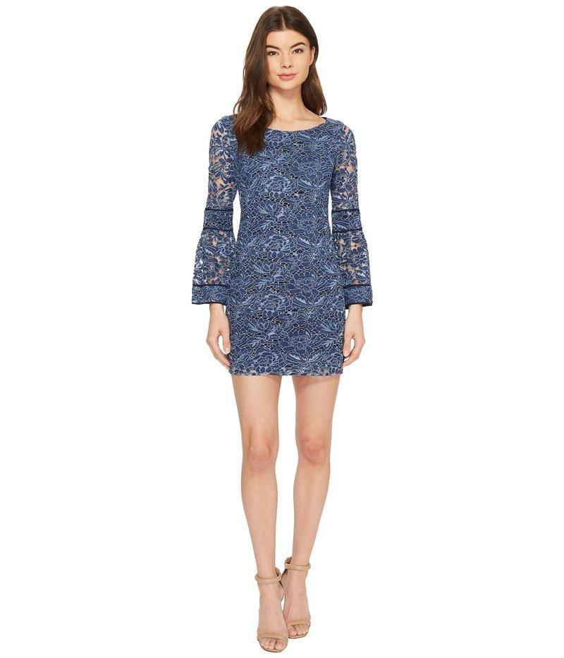 ランドリーバイシェリーシーガル レディース ワンピース トップス Lace Shift Dress with Bell Sleeves Midnight