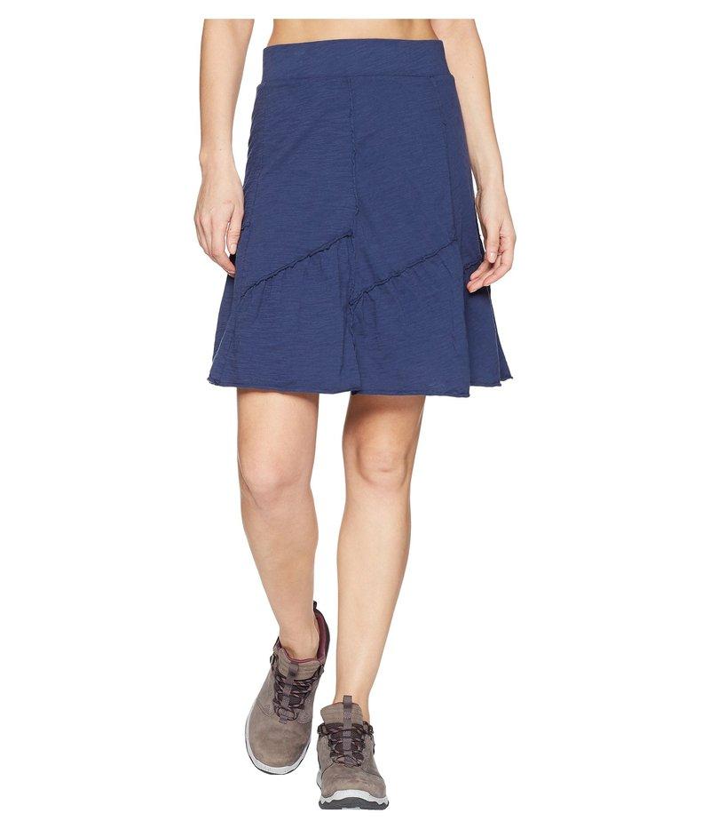 モッドドック レディース スカート ボトムス Slub Jersey Asymmetrical Seamed Skirt New Navy