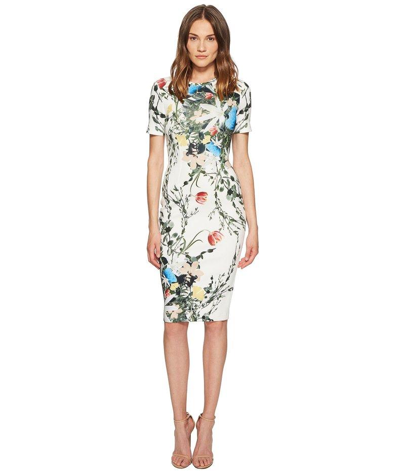イエガルズロール レディース ワンピース トップス Multi Floral Scuba Bodycon Dress Optic Multi
