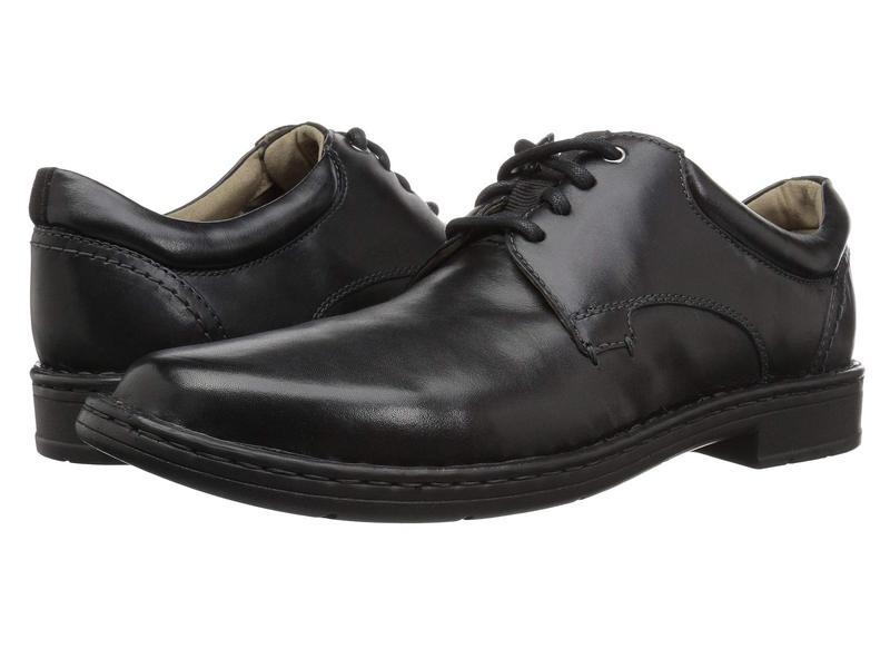 クラークス メンズ オックスフォード シューズ Gadson Plain Black Leather