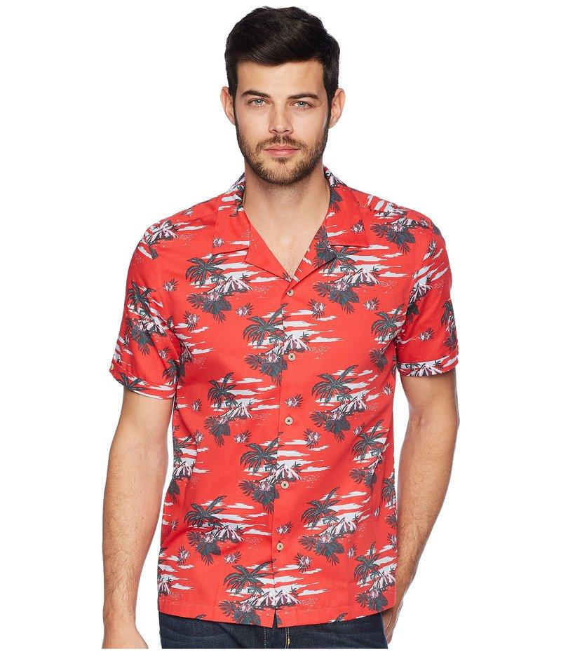 テッドベーカー メンズ シャツ トップス Bliss Short Sleeve Tropical Pattern Shirt Red, HYPE:96fe6f72 --- broadband-navi.jp