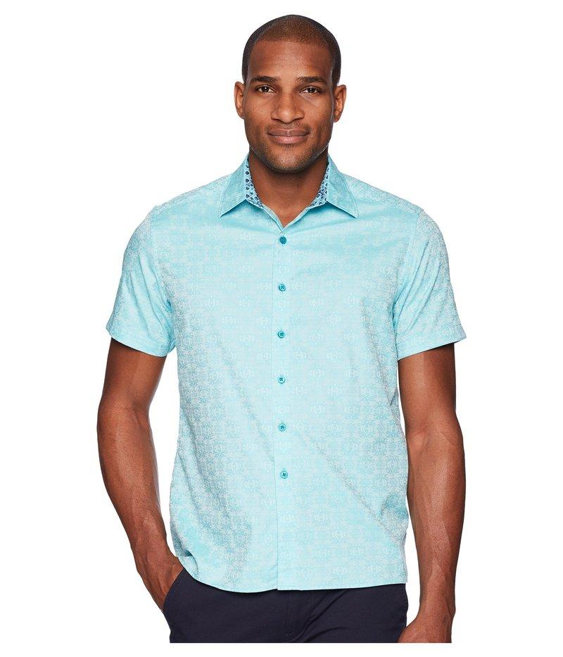 ロバートグラハム メンズ シャツ トップス Cullen Squared Short Sleeve Woven Shirt Turquoise