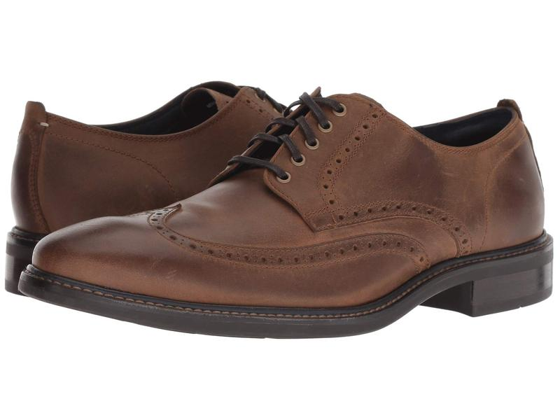 コールハーン メンズ オックスフォード シューズ Watson Casual Wing Ox Dogwood Leather