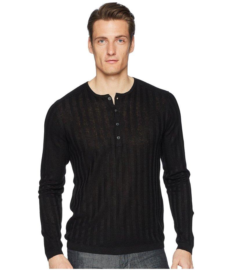 ジョンバルベイトス メンズ ニット・セーター アウター Long Sleeve Rib Henley Y2380U1 Black
