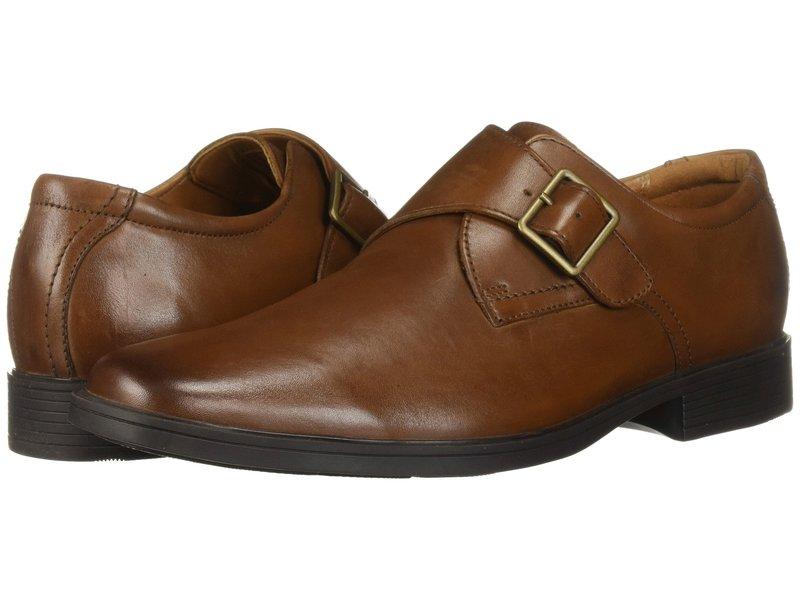 クラークス メンズ オックスフォード シューズ Tilden Style Dark Tan Leather