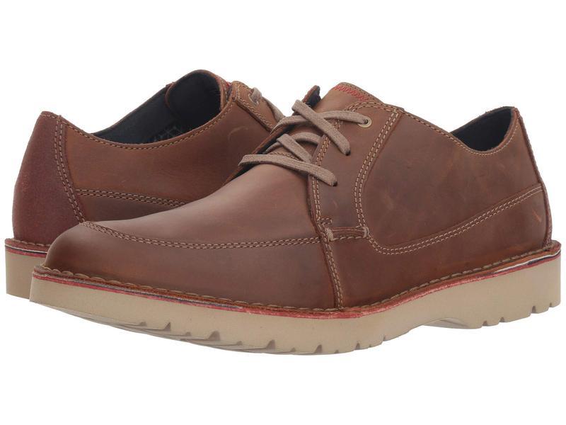 クラークス メンズ オックスフォード シューズ Vargo Walk Dark Tan Leather
