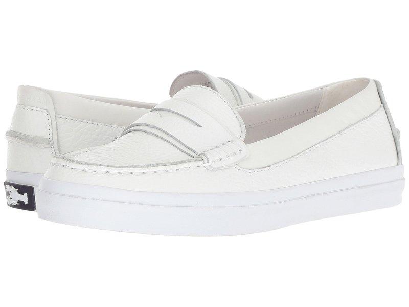 コールハーン レディース スリッポン・ローファー シューズ Pinch Weekender Luxe Optic White Tumbled Leather/Optic White