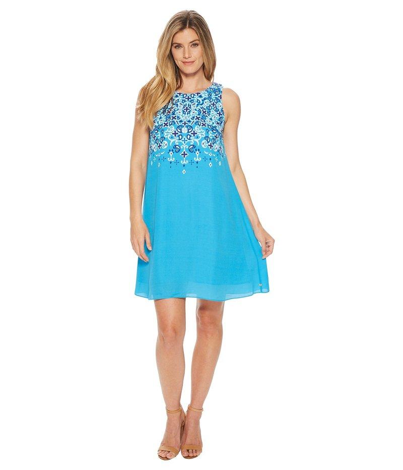 ハットレイ レディース ワンピース トップス Viola Dress Ocean Celestia