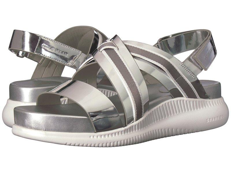 コールハーン レディース サンダル シューズ 2.Zerogrand Crisscross Sandal Ch Argento Specchio/Ironstone Ivory Webbing/Optic White
