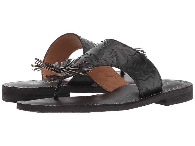 パトリシアナシュ レディース サンダル シューズ Franca Black Tooled Leather