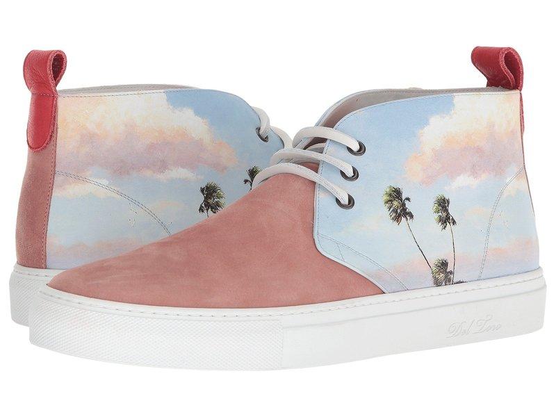 デルトロ メンズ スニーカー シューズ High Top Chukka Sneaker Pink Photo Print