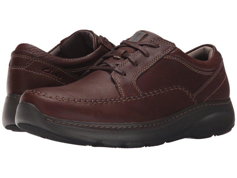 クラークス メンズ スニーカー シューズ Charton Vibe Brown Leather