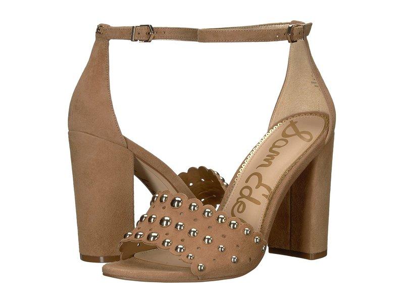 サムエデルマン レディース ヒール シューズ Yaria Ankle Strap Sandal Heel Golden Caramel Kid Suede Leather
