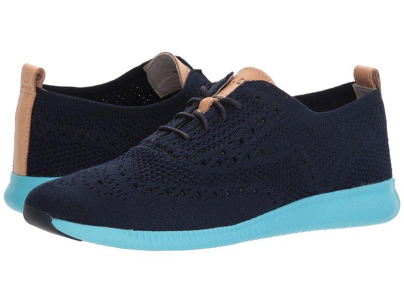 コールハーン レディース スニーカー シューズ 2.Zerogrand Stitchlite Oxford Marine Blue Knit/Bluefish