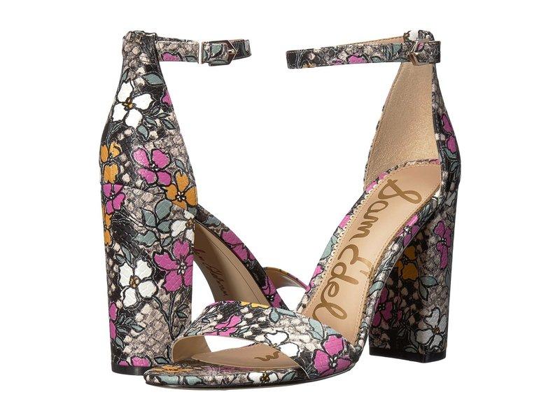 サムエデルマン レディース ヒール シューズ Yaro Ankle Strap Sandal Heel Bright Multi Retro Floral Snake Print