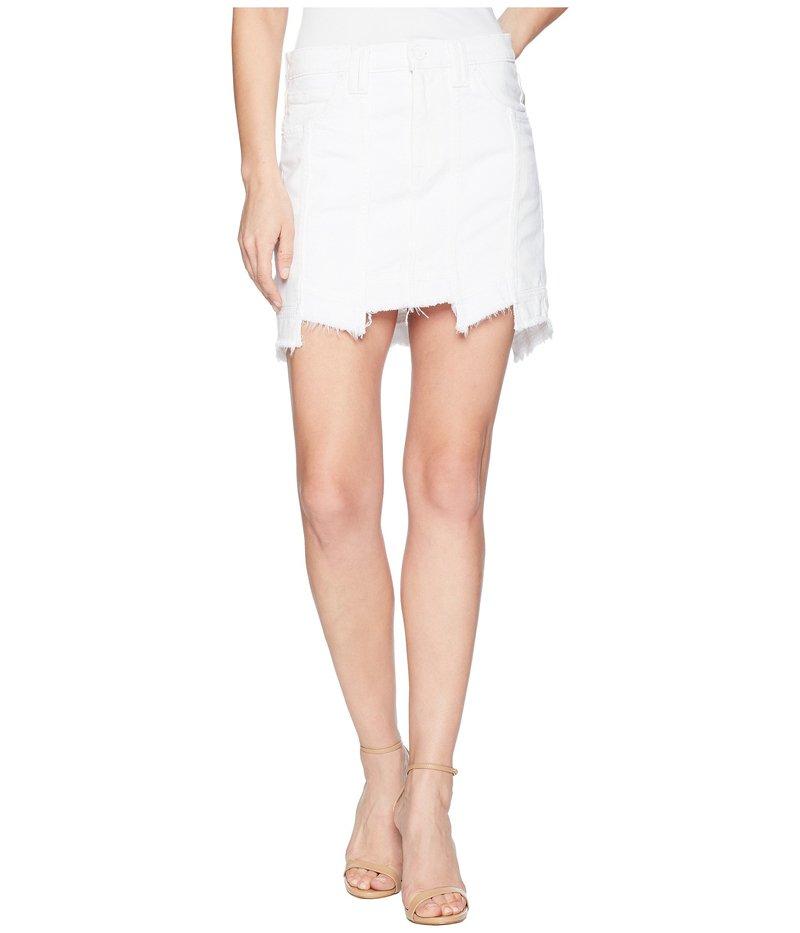 ハドソン レディース スカート ボトムス Weekender Step Hem Jean Skirt in White White