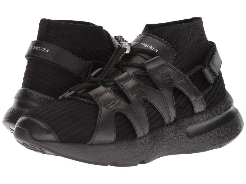 アレキサンダー・マックイーン メンズ スニーカー シューズ Knit Sneaker Black