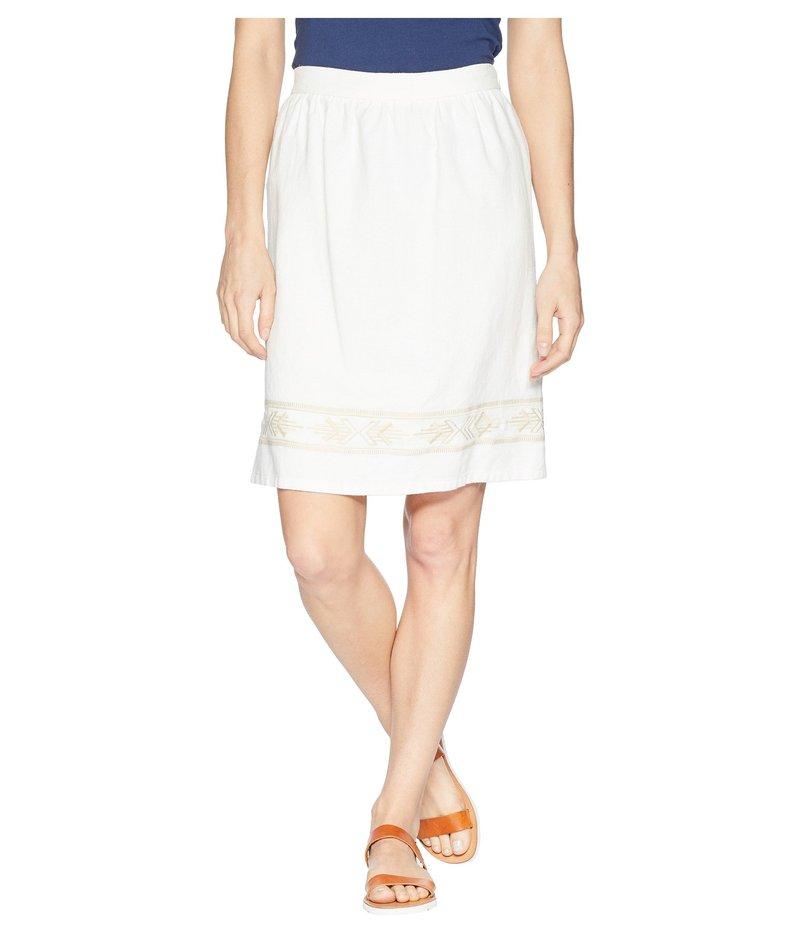 ペンドルトン レディース スカート ボトムス Embroidered Hem Skirt Marshmallow/Sandshell