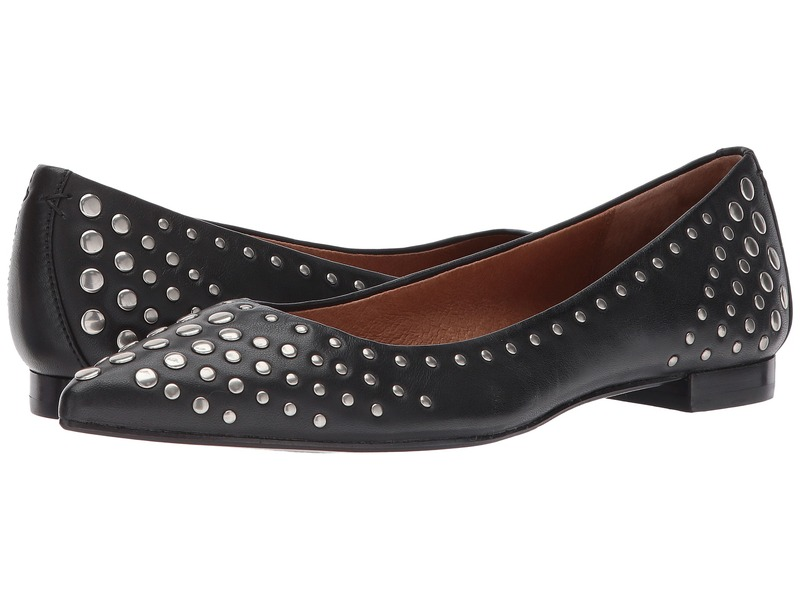 フライ レディース サンダル シューズ Sienna Multi Stud Ballet Black Antiqued Polished Leather