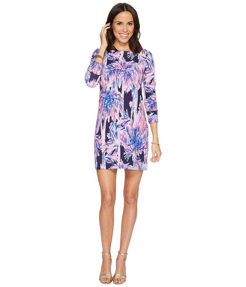 リリーピュリッツァー レディース ワンピース トップス UPF 50+ Sophie Dress Bright Navy Palms Up