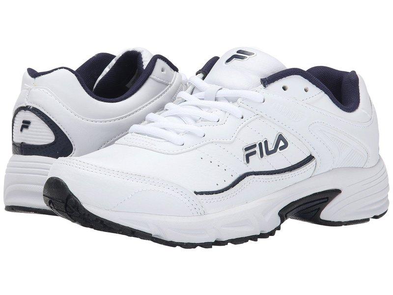 フィラ メンズ スニーカー シューズ Memory Sportland White/Fila Navy/Metallic Silver