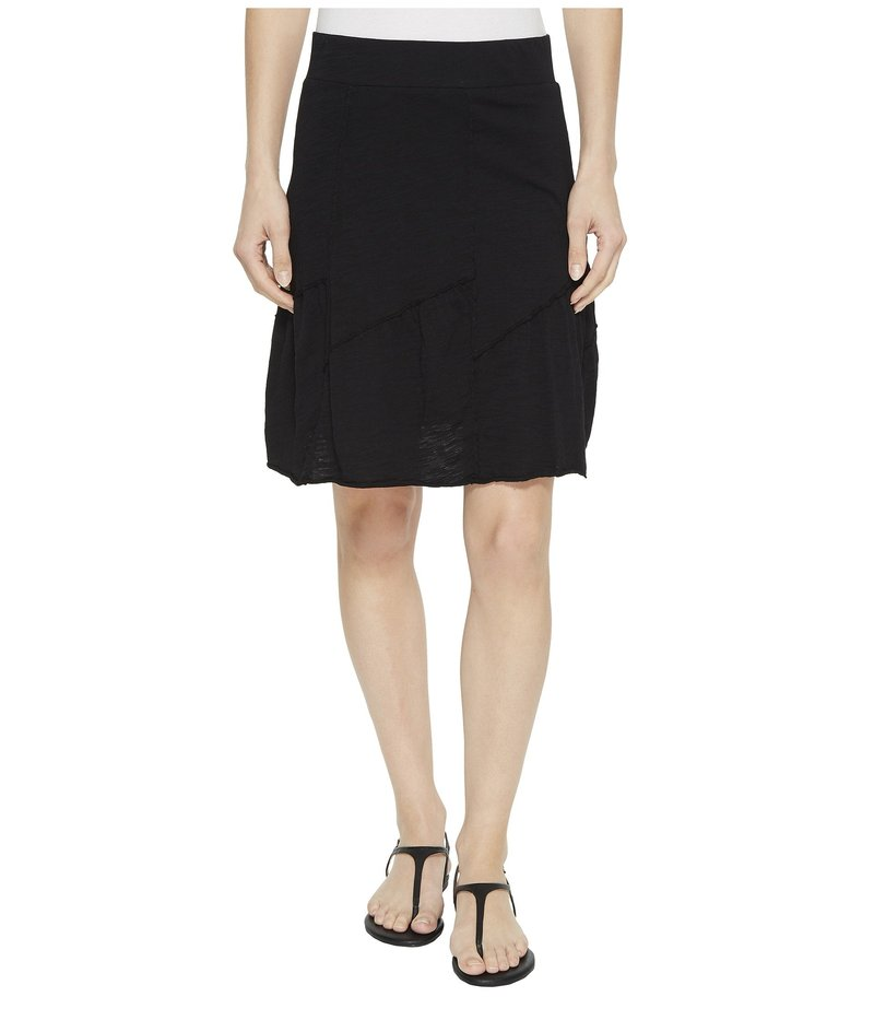 モッドドック レディース スカート ボトムス Slub Jersey Asymmetrical Seamed Skirt Black