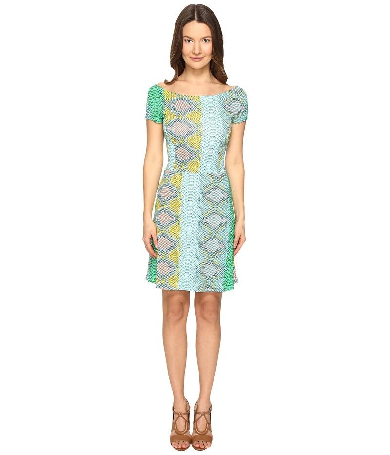 ジャストカバリ レディース ワンピース トップス Iridescent Python Print Shirt Sleeve Dress Ocean Variant