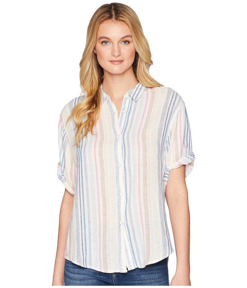 スプレンディット レディース シャツ トップス Cotton Voile Short Sleeve Boyfriend Shirt Multi