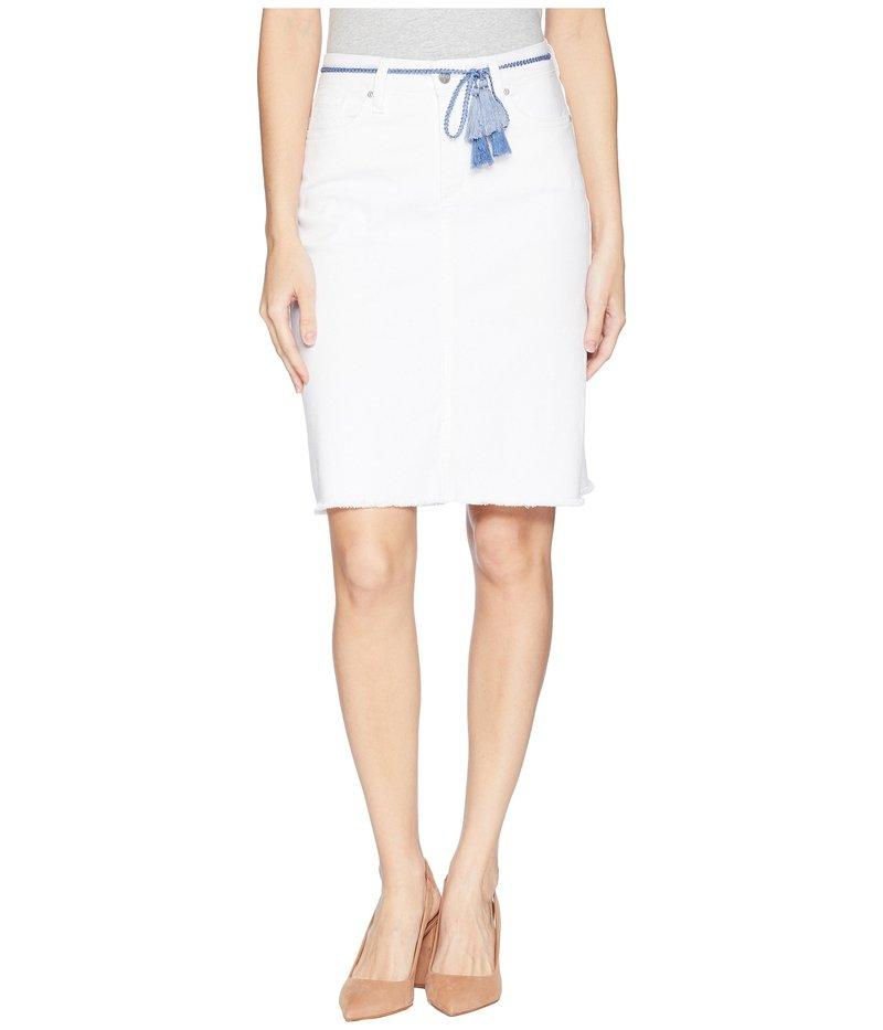 エヌワイディージェイ レディース スカート ボトムス Five-Pocket Skirt w/ Tassel Belt Optic White