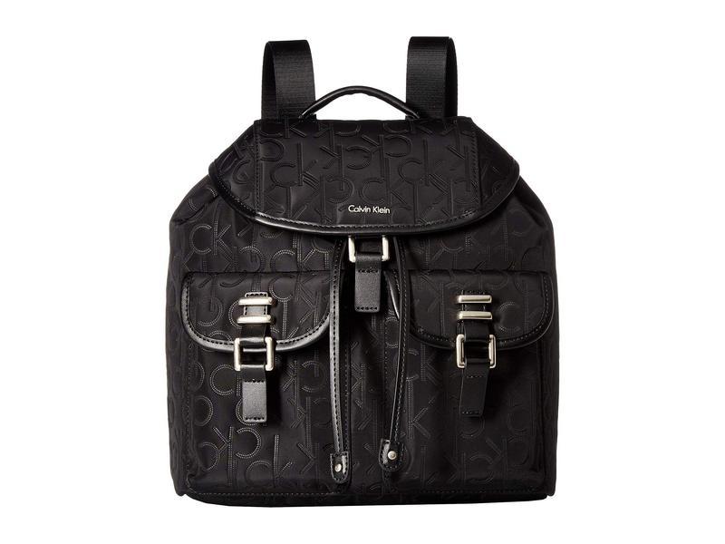 カルバンクライン レディース バックパック・リュックサック バッグ Nylon Backpack Black/Silver