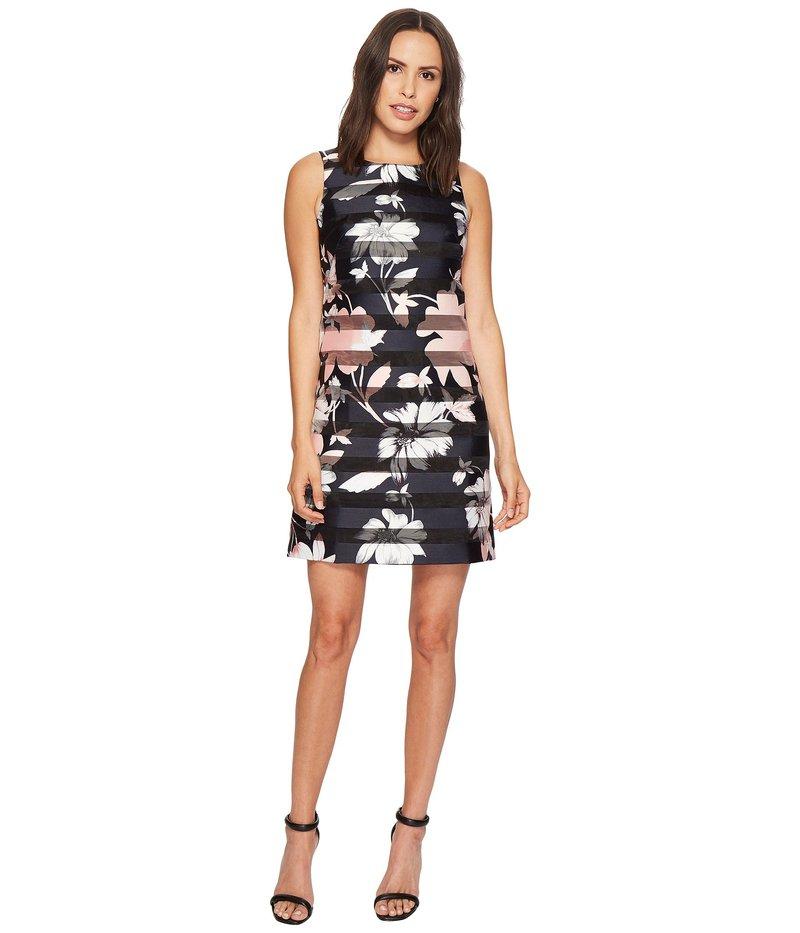 ヴィンスカムート レディース ワンピース トップス Printed Shadow Stripe Shift Dress Black Multi