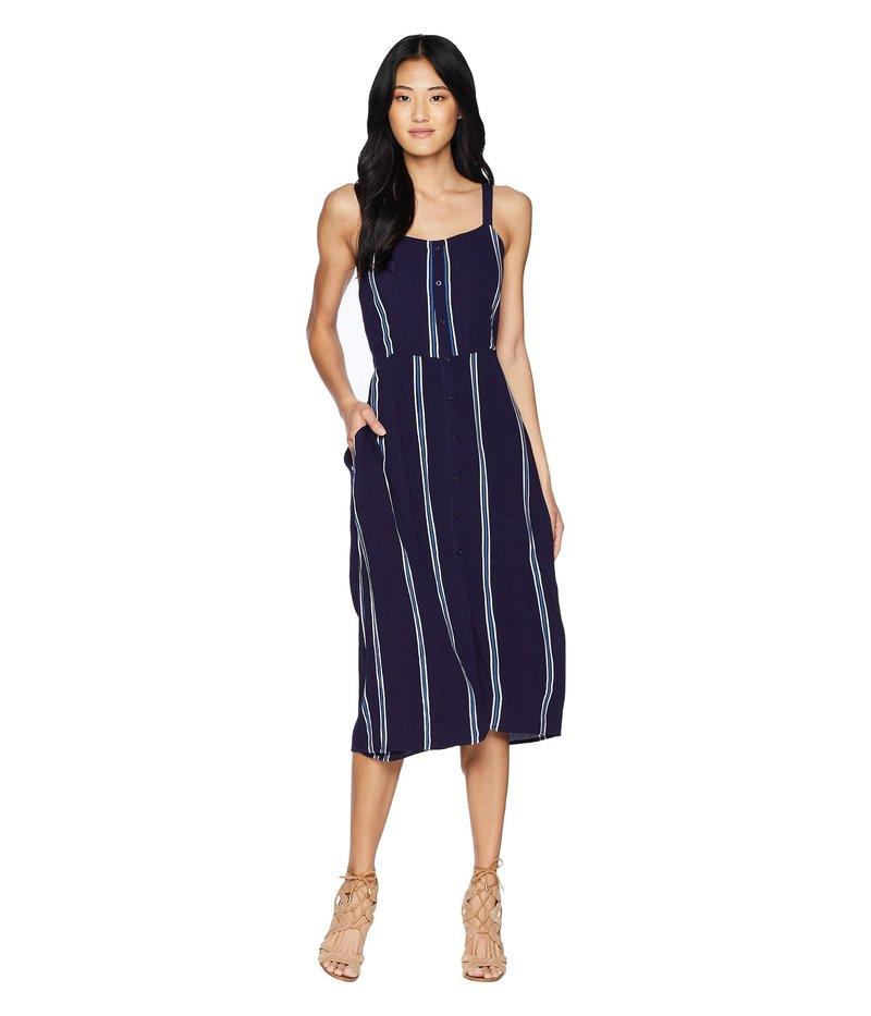 タビック レディース ワンピース トップス Geni Midi Dress Evening Blue/White Stripe