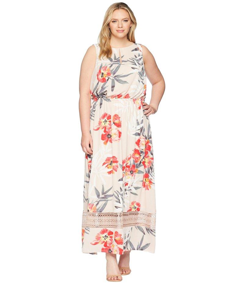 アドリアナ パペル レディース ワンピース トップス Plus Size Tropical Breeze Maxi Dress Geranium Multi
