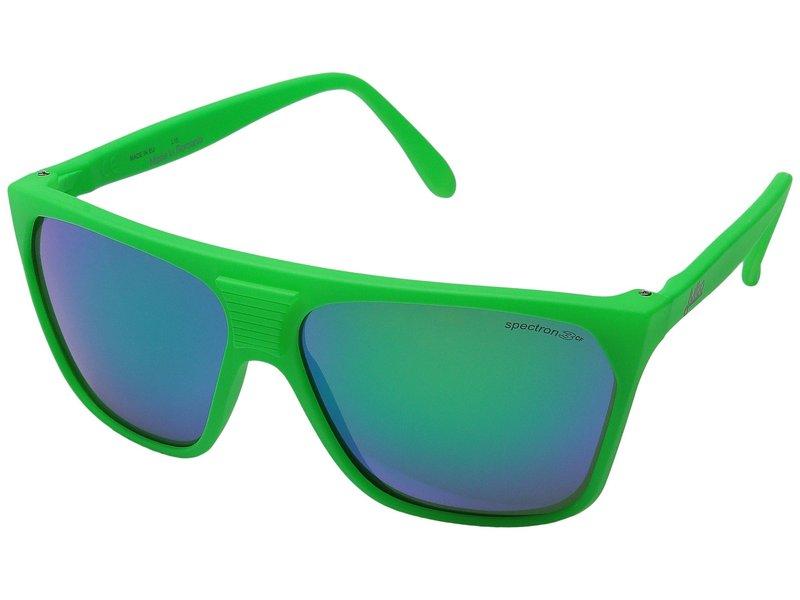 ジュルボアイウェア メンズ サングラス・アイウェア アクセサリー Cortina Vintage Sunglasses Matte Green with Spectron 3 Color Flash Lens