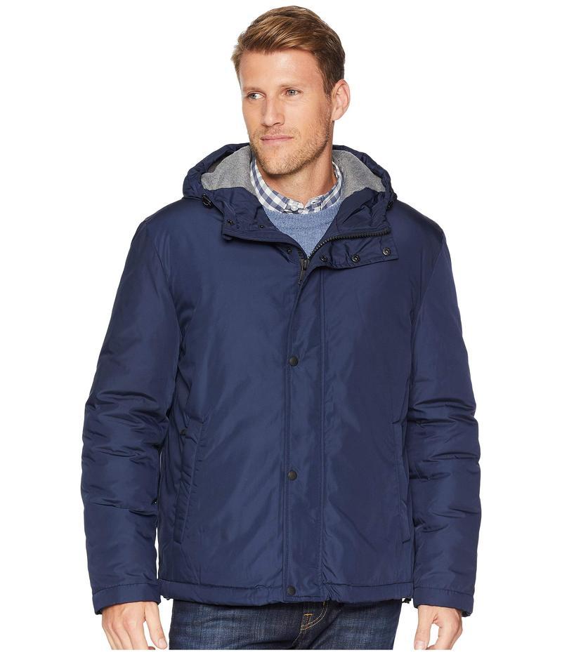 コールハーン メンズ コート アウター Oxford Rain Zip Front Jacket Navy