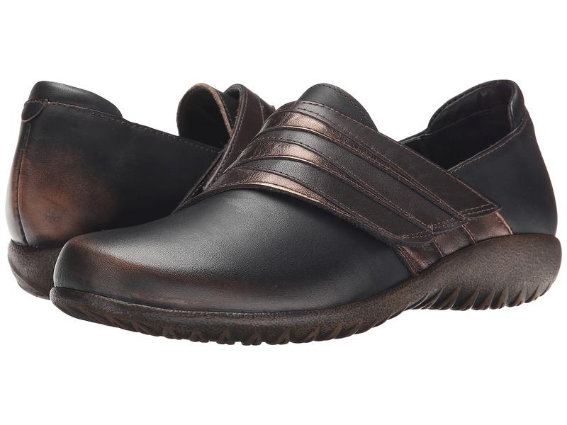 ナオト レディース スリッポン・ローファー シューズ Rapoka Volcanic Brown Leather/Burnt Copper Leather/French Roast Leather