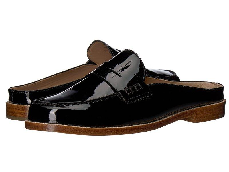 ジョンストンアンドマーフィー レディース サンダル シューズ Giada Black Patent Leather
