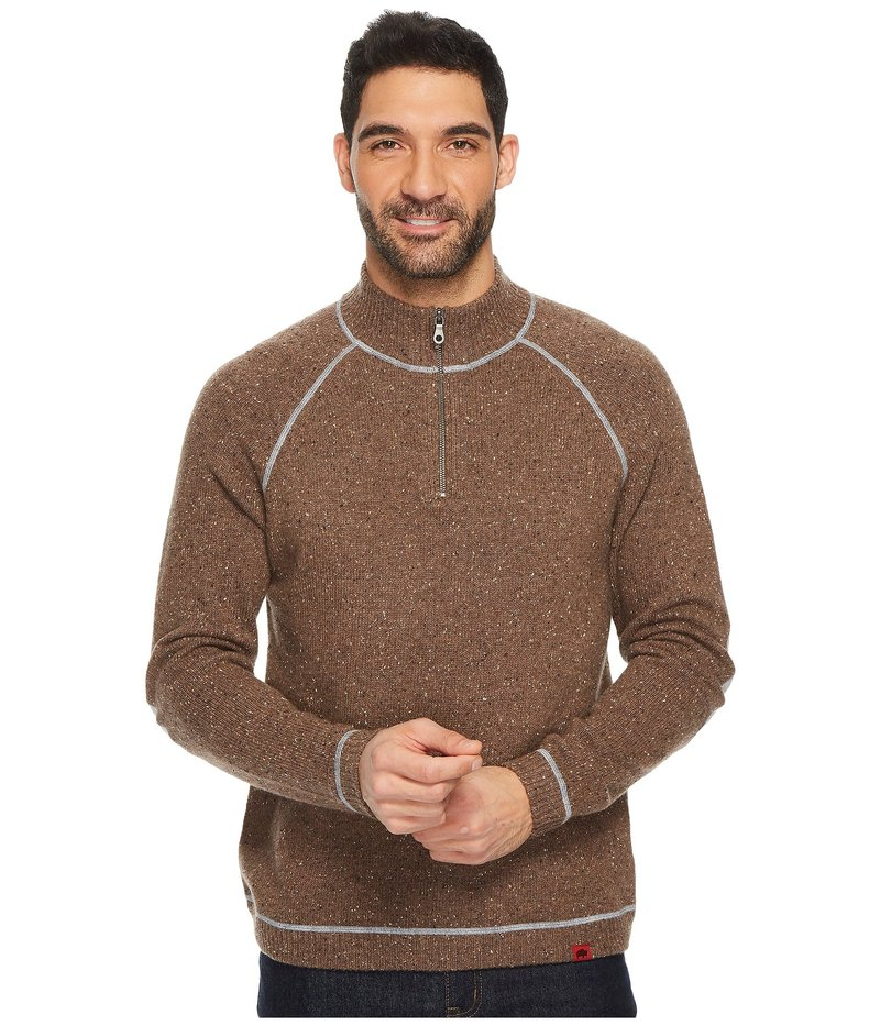 マウンテンカーキス メンズ ニット・セーター アウター Fleck Qtr Zip Sweater Terra
