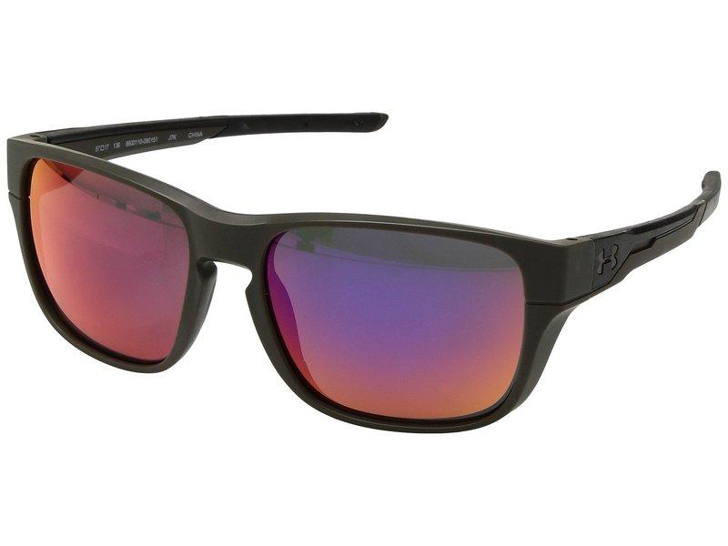 アンダーアーマー メンズ サングラス・アイウェア アクセサリー UA Pulse Satin Carbon/Black/Infrared Mirror