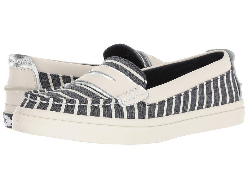 コールハーン レディース スリッポン・ローファー シューズ Pinch Weekender Luxe Nautical Stripe Canvas/Ivory Leather/Ivory