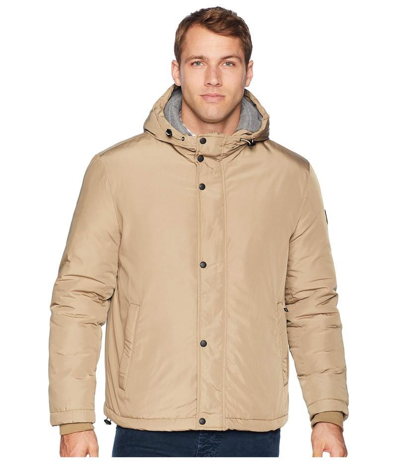 コールハーン メンズ コート アウター Oxford Rain Zip Front Jacket Khaki